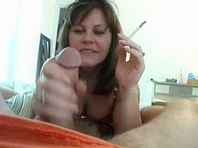 Sexy Smokin' Cougar Jerking It