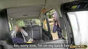 Hottie brunette chick backseat...