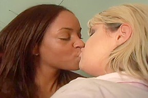 Sex with a blonde and an ebony slut...