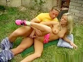 Movies josje romping her lover outdoors...