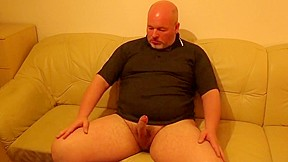 Daddy plays with his cock and cums...