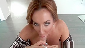 Huge Rack Brunette Milf On Her Knees