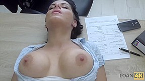 LOAN4K. Dirty anal sex on purpose helps busty brunette get her cash
