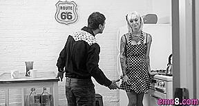 Emo blonde kleio valentine the kitchen...
