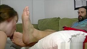 Mans feet...