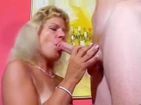 Granny tanlines blowjob cumshot...