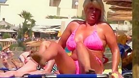 Mature tribute tits nipples swimsuit...