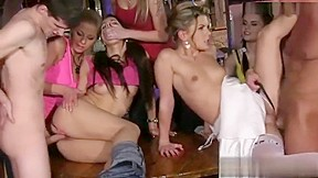 Bachelorette party girls force stripper and bartender to give it up