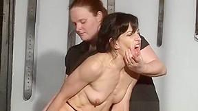 Bbw tortures skinny girl...