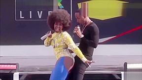 Safaree getting twerked on by Amara La Negra