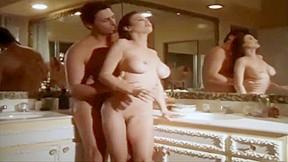HOT BRUNETTE AMY ROCHELLE REBECCA SECRET BATHROOM FUCK