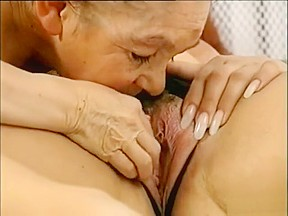 Horny lesbians get a grandpa midget surprise...