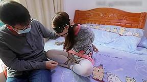 Asian blindfold bondage and gagged...