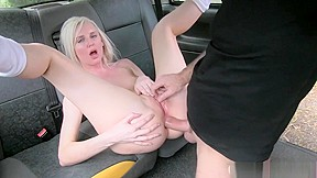 Anal banged by nasty driver to off her...