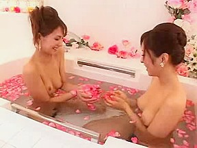 Nude massage asian girls in the tub...