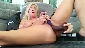 Horny tits hard fucking with huge dildo big...