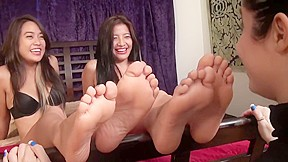Two for one Asian feet