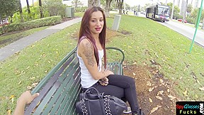 Tattooed euro pickedup and doggystyled pov...