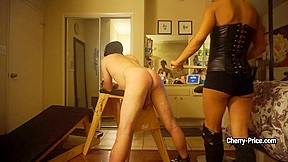 Mistress strict cherry price hit slave with various...
