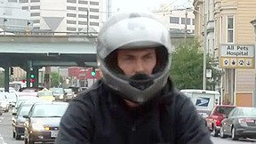 Muscular biker fucks a in the arse...