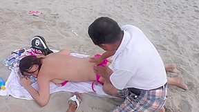 Asmr topless beach...