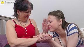 Old grandma copulates juvenile legal age teenager cutie