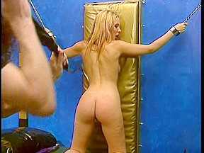 Blond with priceless naturals enjoying a SADOMASOCHISM session
