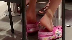 Feet scrunch...
