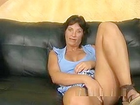 Mature woman tries out sex...