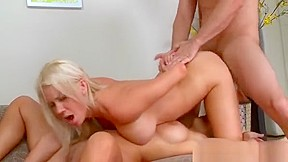 Babe with natural loves fucking very much...