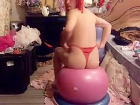 Yoga ball butt...