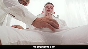 MormonBoyz - Young Religious Boy Jerks For Bishop