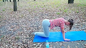 Sexy rina di wetting yoga pants in a...