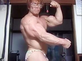 Legend veiny asian bodybuilder...