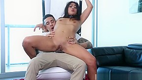 Teen creampie first time paying rent the hard...