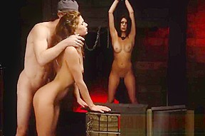Slave drink spit first time Two youthful sluts, Sydney Cole and Olivia