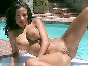 Babe rita g stripping in her red bikini...