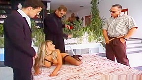Pretty harlot performing a sex toy porn video...