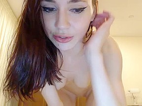 Hot model like striping show webcam...