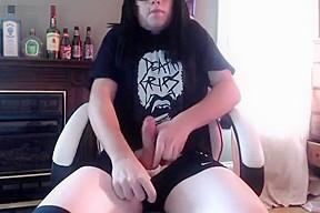 Goth femboy eating...