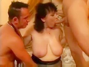 Granny hottie takes 2 cumshot...