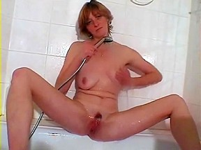 Sexy masturbation in bathroom cumshot...