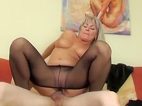 Young boy and mom cumshot...
