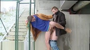 Really time two sexy hunks fuck outdoors for...