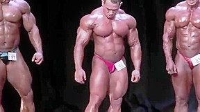 Muscle posing thongs muscle butt...