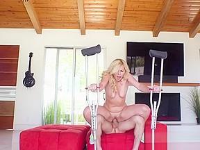 Blonde Vixen Summer Day Enjoys Neighbors Big Cock