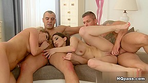 Tony, Sabby, Angel Black, Jimena Lago in Play and lick Scene