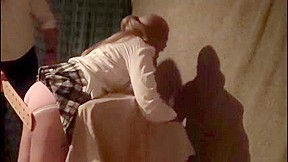 Nice-ass gal gets her butt spanked