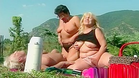 Three Mature Lesbians Naked In The Park