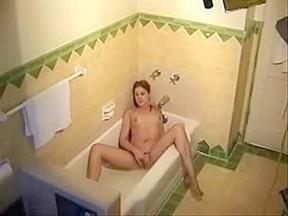 Cute in bath tube...